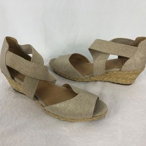 White Mountain 10 Espadrilles Wedge Heel